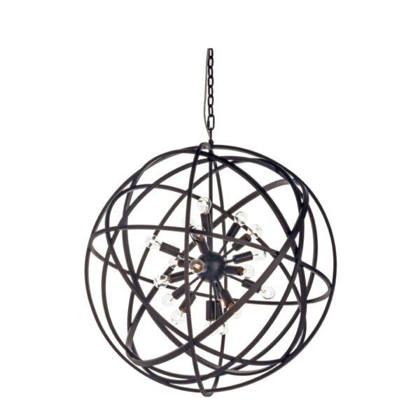 NEST Ceiling lamp Black 80  (El. plug connection not incl)