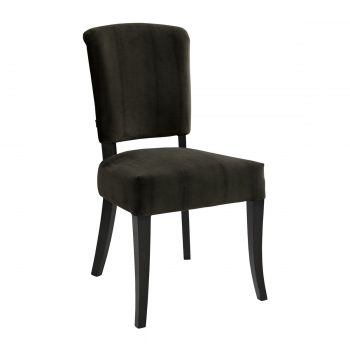 CARERA dining chair velvet darkbrown