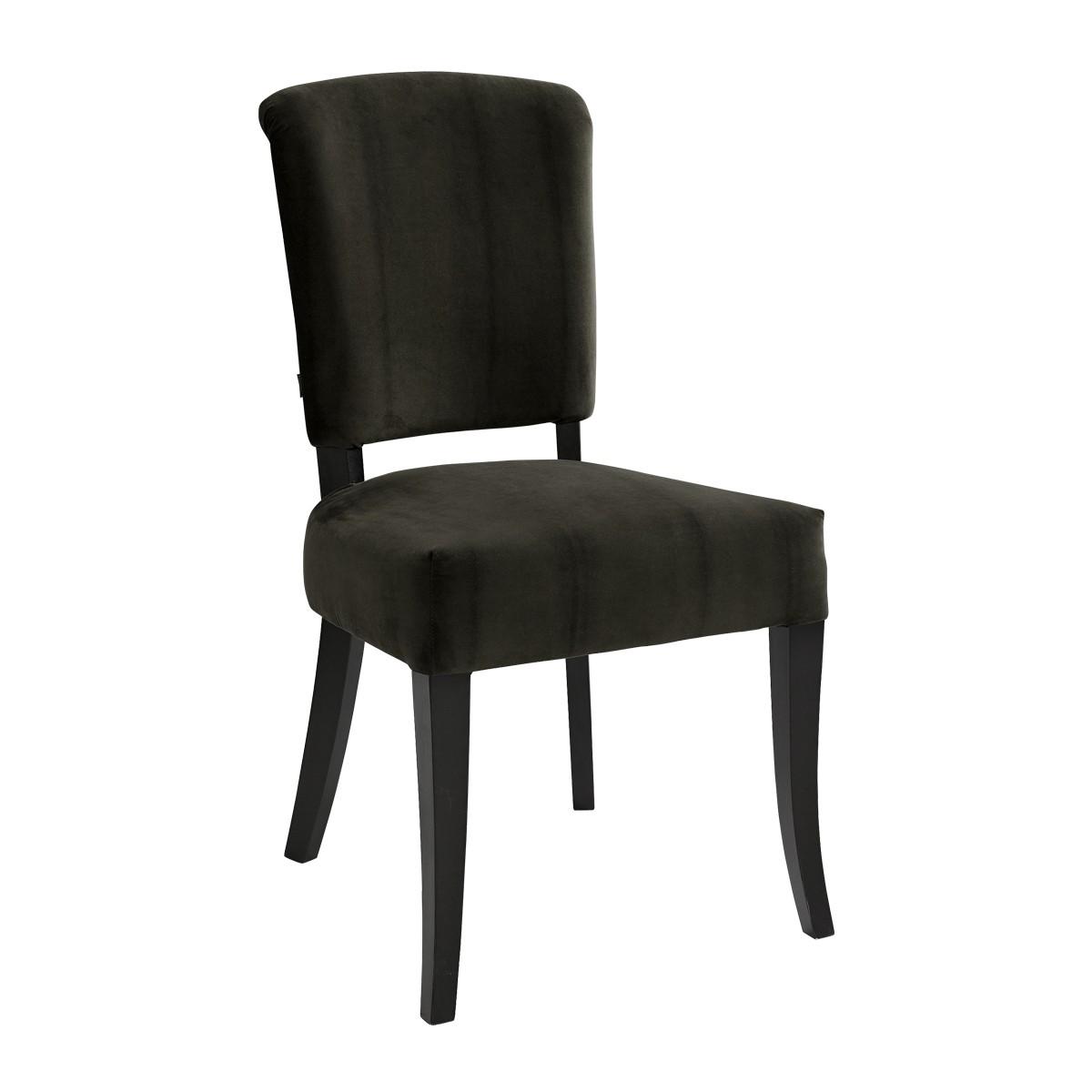 CARERA dining chair velvet darkbrown
