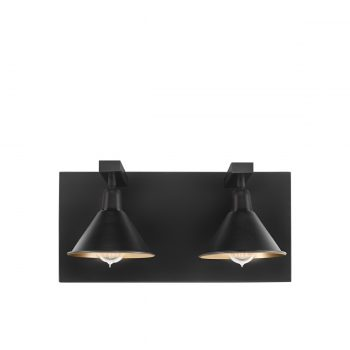 ANZIO Wall lamp double matt black
