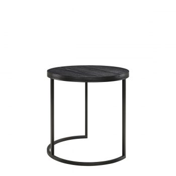 MASON side table round black oak