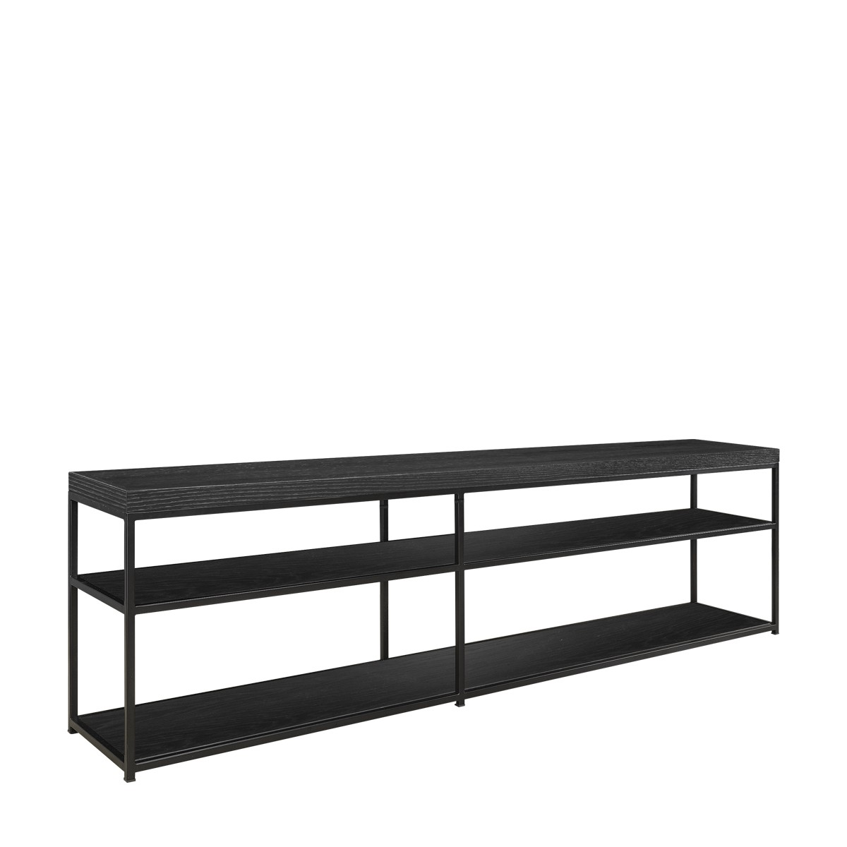 AW MASON media bench black oak