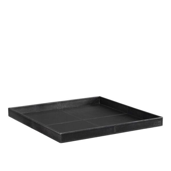 MENDOZA Square tray leather black