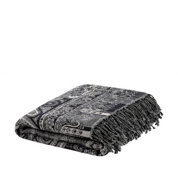 AW EROZ Throw Paisley light grey