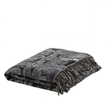 AW EROZ Throw Paisley dark grey