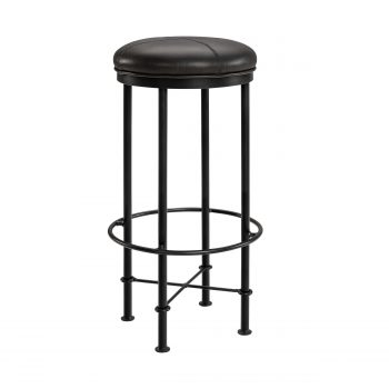 EVAN barstool black metal/matt black taupe