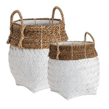 AW Davao Round basket L white