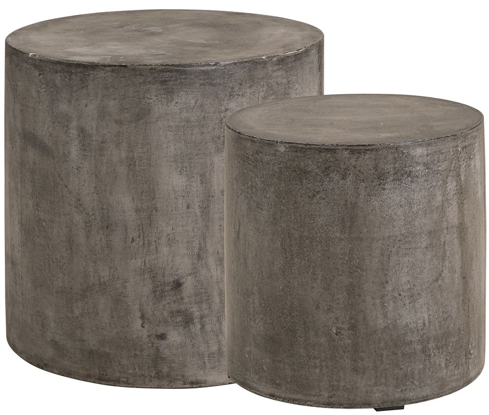 AW DOLOMA Side table 2-s Concrete Grey