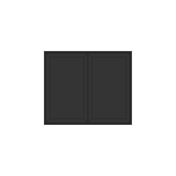 EDGE MODUL BLACK SKÄNK 2-SEKTION 86Bx38Dx72H