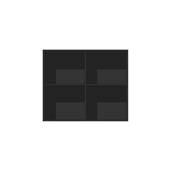 EDGE MODUL BLACK OAK BOKHYLLA 2-SEKTION 86Bx38Dx72H