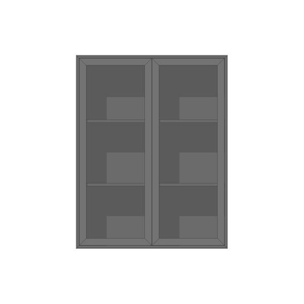 EDGE MODUL BLACK OAK VITRIN HÖG 2-SEKTION 86Bx38Dx110H
