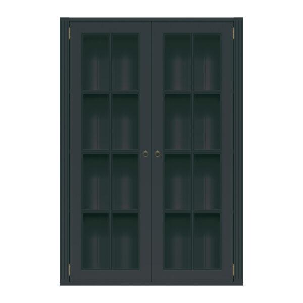 STOCKHOLM MODUL BLACK VITRIN 2 HÖG  98B x 36D x 144H